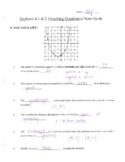 Note Guide - Graphing Quadratics