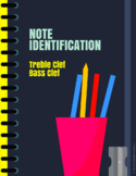 Note Identification - Treble Clef and Bass Clef