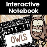 Owls Interactive Notebook