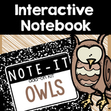 Owls Interactive Notebook