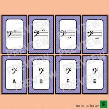Note Match Game Introductory Set (Basic Treble and Bass Clef Notes)