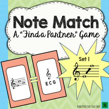 "Note Match Game Vol. 1 (A ""Find a Partner"" Game) – 2 Sets!"