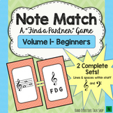 """Note Match Game Vol. 1 (A """"Find a Partner"""" Game) – 2 Sets!"""