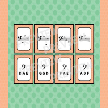 """Note Match Game Vol. 2 (A """"Find a Partner"""" Game) – 4 Sets!"""