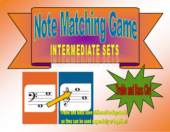 Note Matching Game Intermediate Sets