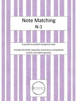 Note Matching - Novice 1 File Folder