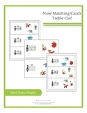 Note Matching Treble Clef Cards