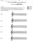 Note Name Alphabet Challenge (Notation Practice on the Treble Clef)