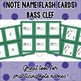 Note Name Flash Cards - Bass Clef