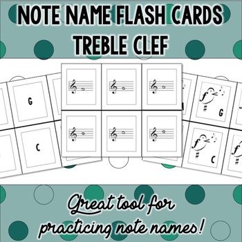 Note Name Flash Cards - Treble Clef