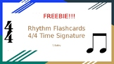 Note Name Flashcards - 4/4 Time Signature