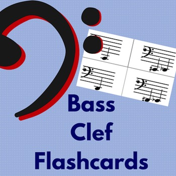 Note Name Flashcards- Bass Clef
