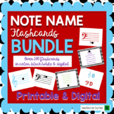 Note Name Flashcards for Music Distance Learning (Digital & Print!)