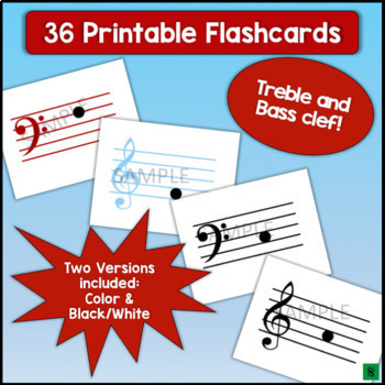 Note Name Flashcards - Lines & Spaces