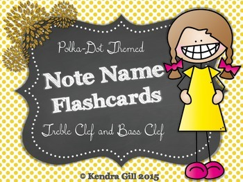 Note Name Flashcards - Polka Dot Themed