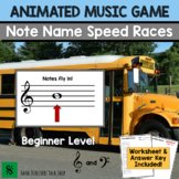 Fall Music Activities- Animated Note Name Music Game