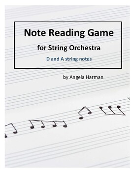 Note Name Game - D and A string notes