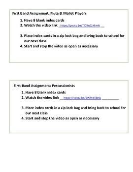 Note Name Index Cards (Flash Cards) with VIDEO