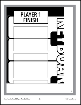 Note Name Keyboard Collapse Flash Card Game