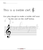Note Name Play Dough Activity Sheets
