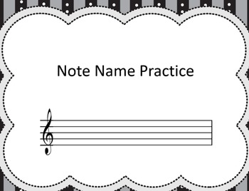 Note Name Practice Book Easy and Hard Bundle