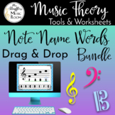 Note Name Words Drag and Drop Bundle