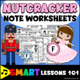 Nutcracker Worksheets: Nutcracker Note Activities: Treble