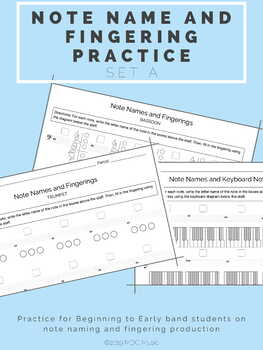 Note Name and Fingering Practice A