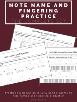 Note Name and Fingering Practice Bundle