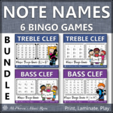 Note Names Music Bingo Games {Treble Clef & Bass Clef} Bundle