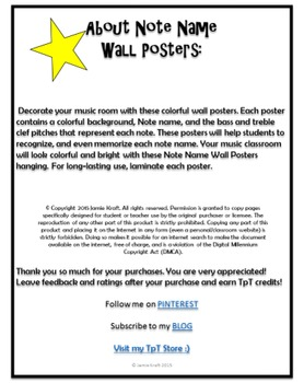 Note Names: Wall Posters