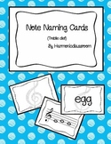 Note Naming Cards
