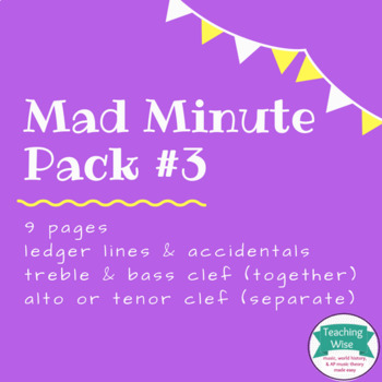 Note Naming Mad Minute Pack #3