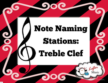 Note Naming Stations: Treble Clef (Great for Sub!)
