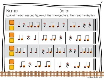 Note Neighborhood – Bar Line and Time Signature Worksheet Pack