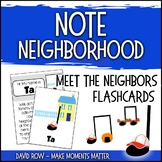 Note Neighborhood – Meet the Neighbors Flashcards