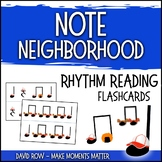 Note Neighborhood – Rhythm Reading Flashcards