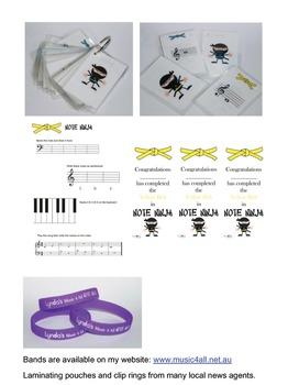 Note Ninja Piano Notation Flashcards
