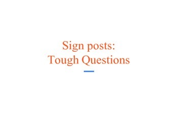 Notice & Note - Sign Posts ppt Tough Questions