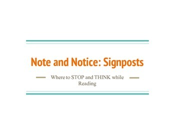 Notice & Note: Signposts Aha! Moment