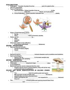 Note Outline - Forensic Palynology (Pollen and Spore Examination)