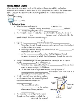 Note Outline - Glass Evidence