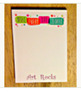"Art Rocks Note Pad - Make Every Day Colorful, 75 Pages, 5"" x 7"""