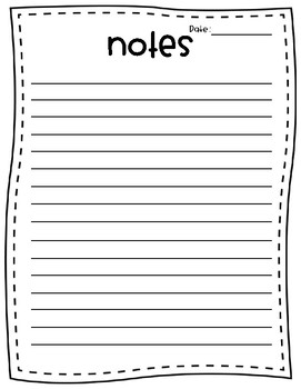 Note Paper - FREE