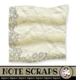 Note Paper Scraps - Border Clip Art