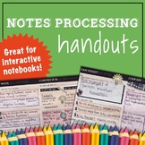 Note Processing Graphic Organizers