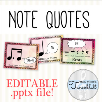 Note Quotes: Editable