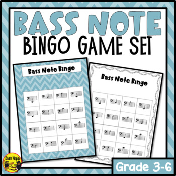Bass Clef Note Reading Bingo Game