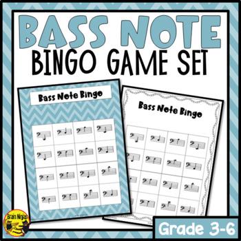 Bass Clef Note Reading Bingo Game