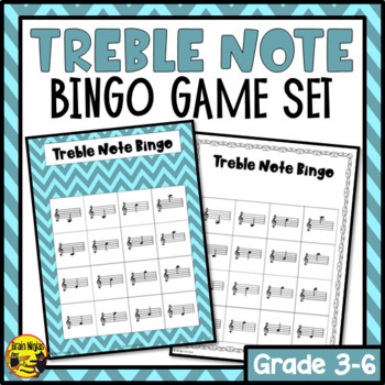 Treble Note Reading Bingo Game